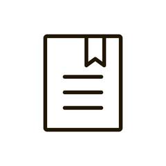Flat line icon