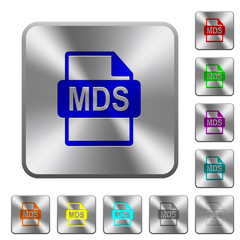 MDS file format rounded square steel buttons