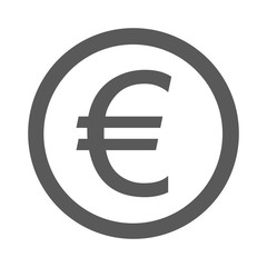 Euro symbol icon simple vector