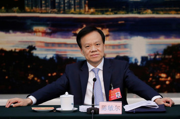 Chongqing Municipality Communist Party Secretary Chen Miner attends Chongqing delegation discussion sessions of the 19th National Congress of the Communist Party of China in Beijing
