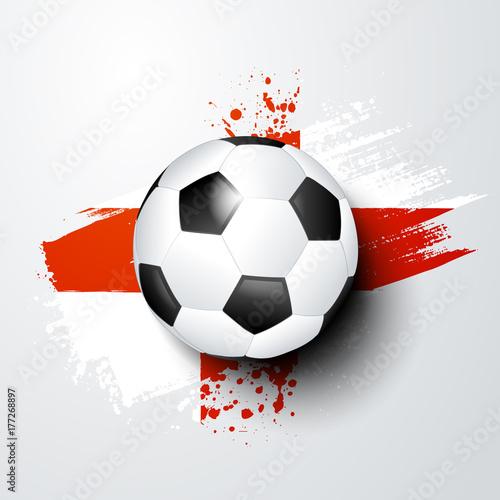 Fussball Welt Oder Europa Meisterschaft Mit Ball Und England