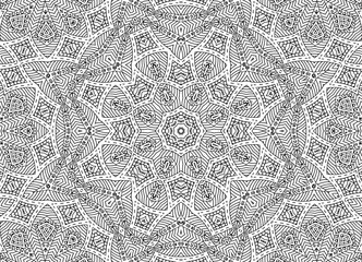 Abstract concentric outline pattern
