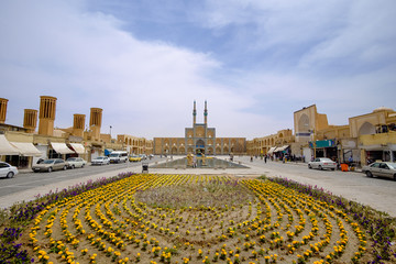 view of Amir Charhmaq Mosque, Yazd, Iran