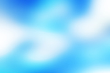 Colorful blurred blue with spot dark blur over white and dark blue background. Bright abstract blured blue background.