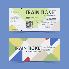Train ticket. Guide for designers element. Vector illustration