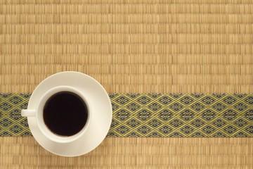 ニッポンのたたみとコーヒー(Japanese tatami matting and coffee)