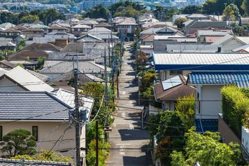 家々が続く町並み