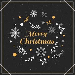Christmas background with typography lettering