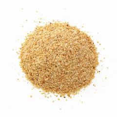 Wheat germ on white background