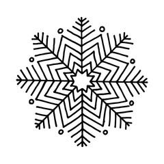 Snowflake. Icon graphic.