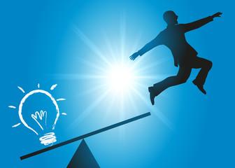 idée - réussite - succès - carrière - créatif - concept - augmentation - progression - décoller - entreprise
