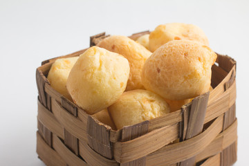 Brazilian Cheese Bread in a basket