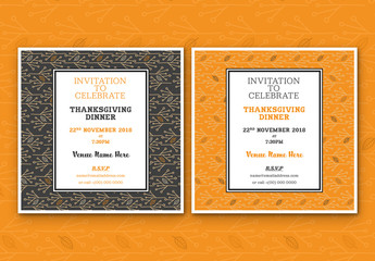 Abstract Leaf Event Invitation Layouts 1
