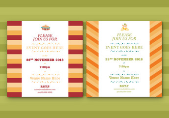 Lines Pattern Event Invitation Layouts