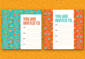 Circle and Line Event Invitation Layout 1