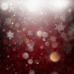 Beautiful deep red winter background. EPS 10 vector
