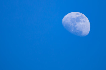 The moon photographed during the day.