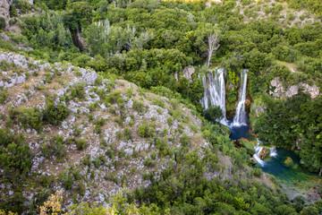 Krka national park in Croatia - Manojlovacki waterfall