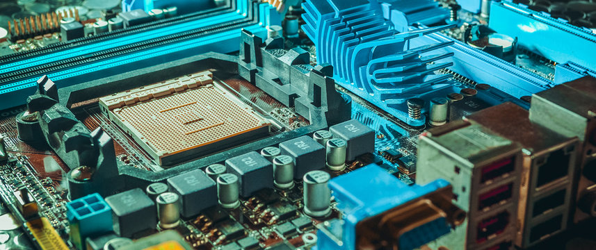 motherboard on a table close-up