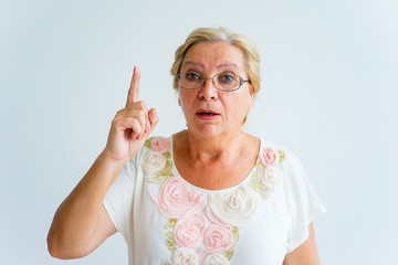 Senior people emotions