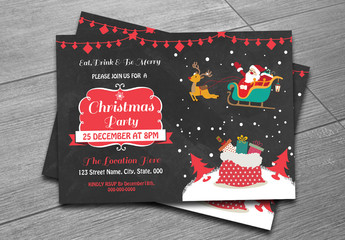 Christmas Party Invitation Flyer 9