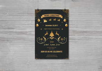 Christmas Party Invitation Flyer 12