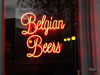 Belgium Beers Neon Sign