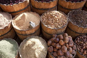 Spices for sale in market, Egypt