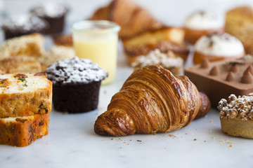 French Desserts and Croissants