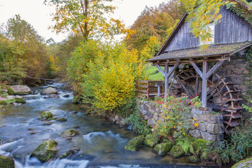 Autumn landscape - Black Forest. An old water mill in the Black Forest.