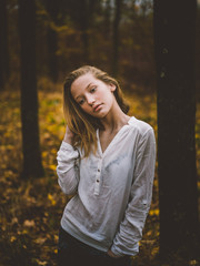 Young girl portrait in the park
