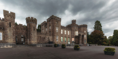CYFARTHFA Castle in the brecon beacons national park of Wales in Great Britain