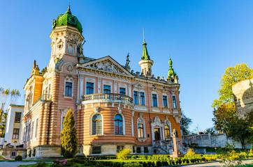 Lviv cityscape architecture rxterion in the autumn season