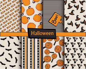 Halloween patterns collection
