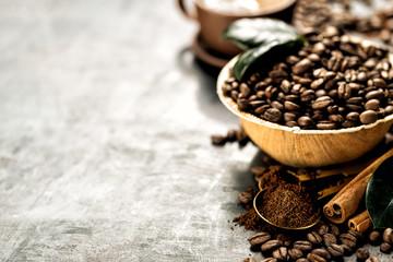Poster Café en grains Closeup?coffee beans arrangement