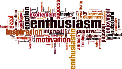 Enthusiasm word cloud
