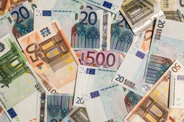 Pile of Euro Paper Bills