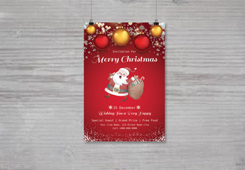 Christmas Party Invitation Flyer 17