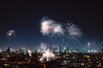 Fireworks on Bonfire night in London