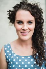Portrait of a bridesmaid smiling