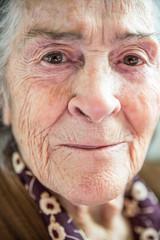 Senior woman looking at camera portrait