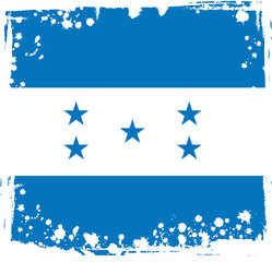 Abstract Honduras Flag, Honduran Colors (Vector Art)