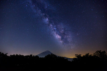 The Milky Way over Mt. Fuji, Japan