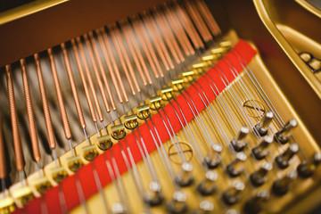 Mechanics of a piano