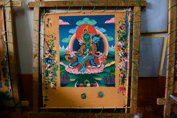 Buddhist image. Hand Made picture