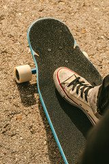 Close up of a Young Skater's Feet