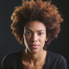 Portrait of a young African American woman.