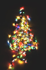 Christmas tree made from lights decoration