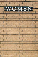 Retro Women's Public Toilet Siign