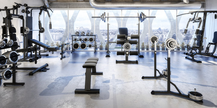 Weights Room (panoramic)